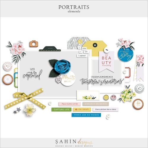 Portraits Digital Scrapbook Elements - Sahin Designs - Everyday Life
