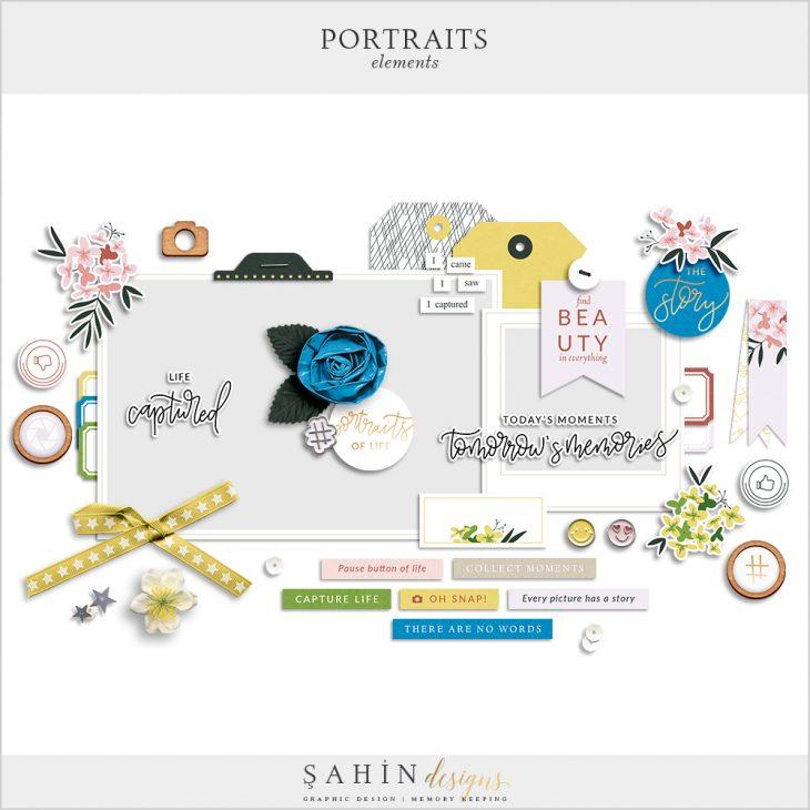 Portraits Digital Scrapbook Elements - Sahin Designs - Everyday Life