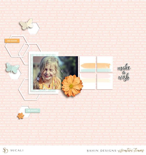Spring Digital Scrapbook Layout - Sahin Designs