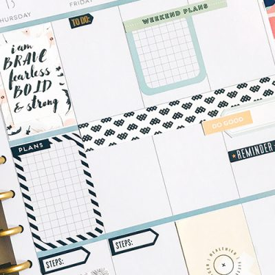 How to Use Scrapbooking Materials in Your Planner - Sahin Designs