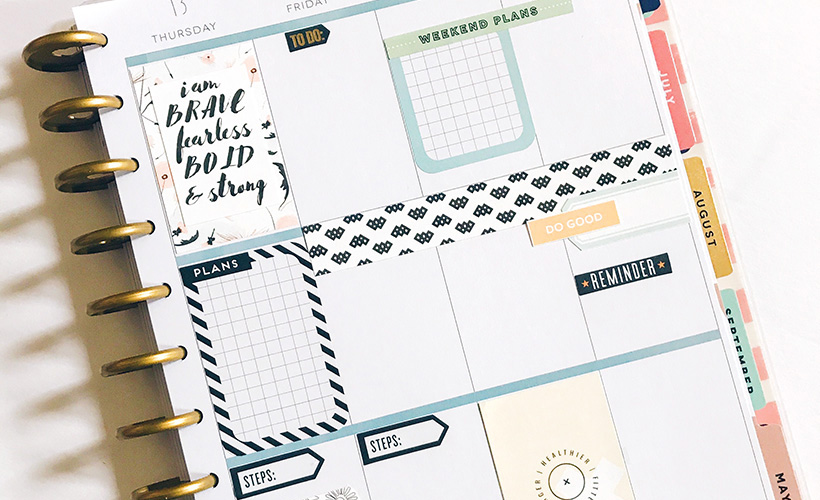 How to Use Scrapbooking Materials in Your Planner