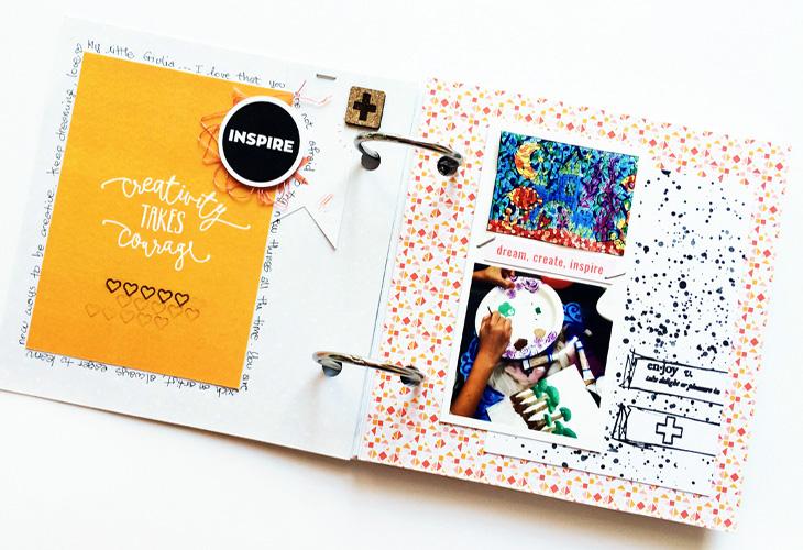 Hybrid Scrapbooking - A Mini Book - Sahin Designs