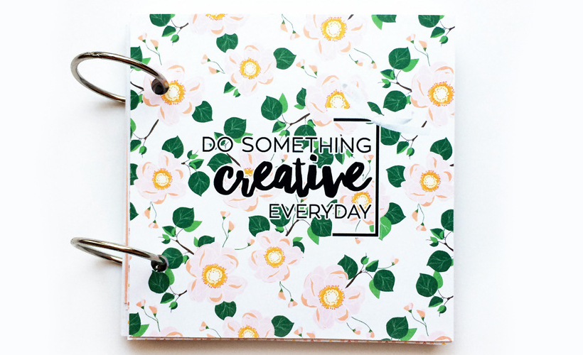 Hybrid Scrapbooking - A Mini Book - Sahin Designs