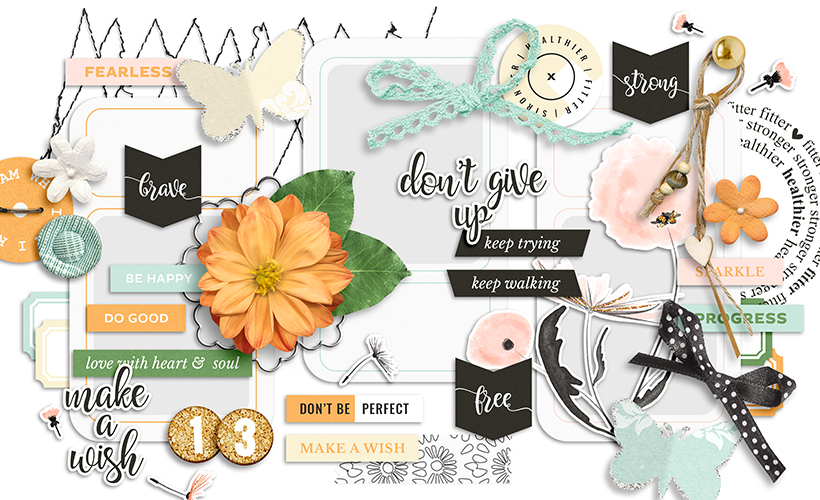 Fearless Digital Scrapbook Collection by Sahin Designs