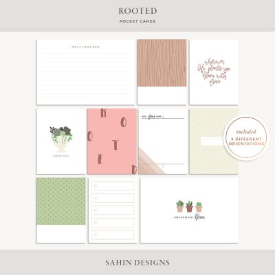 Rooted Printable Pocket Cards - Sahin Designs