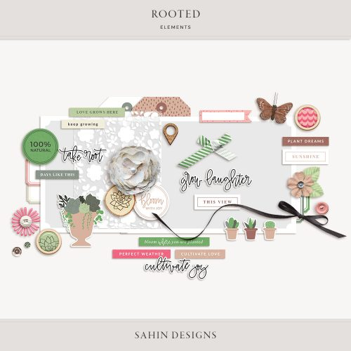 Rooted Digital Scrapbook Elements - Sahin Designs