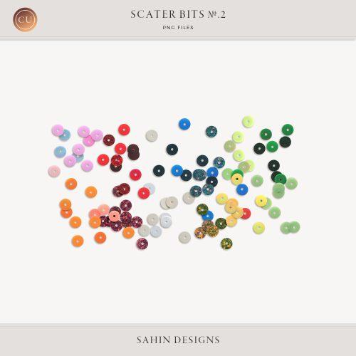 Extracted Sequin Scatters - Sahin Designs - CU Digital Scrapbook