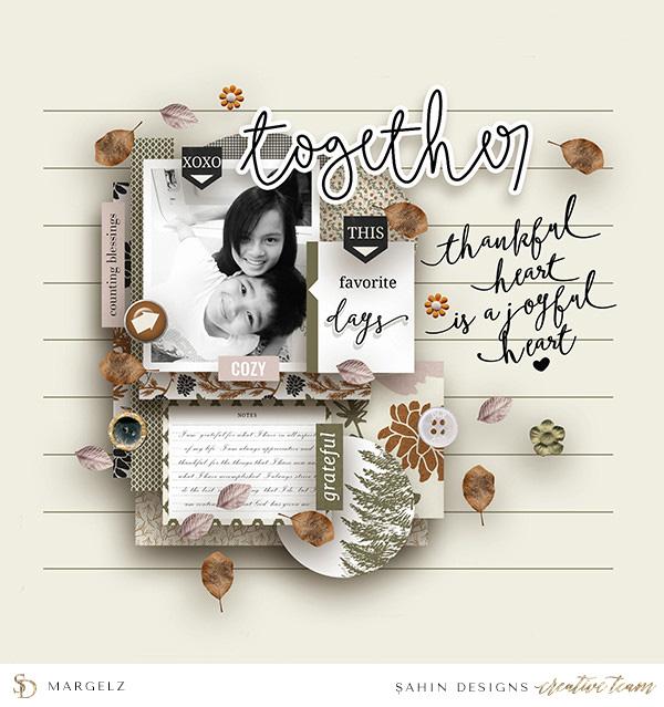 Siblings Digital Scrapbook Layout - Sahin Designs