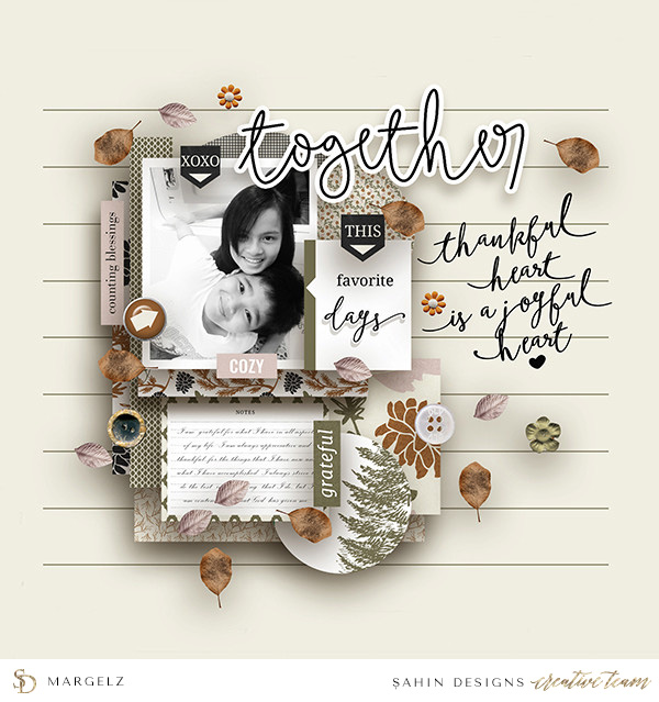 Siblings Digital Scrapbook Layout - Sahin Designs