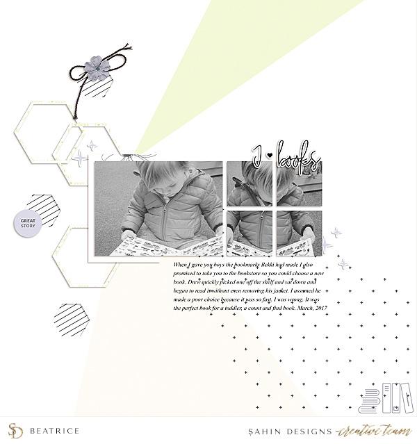 Boy Digital Scrapbook Layout - Sahin Designs