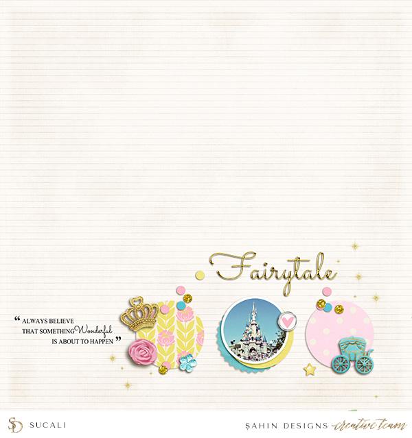 Princess Digital Scrapbook Layout - Sahin Designs