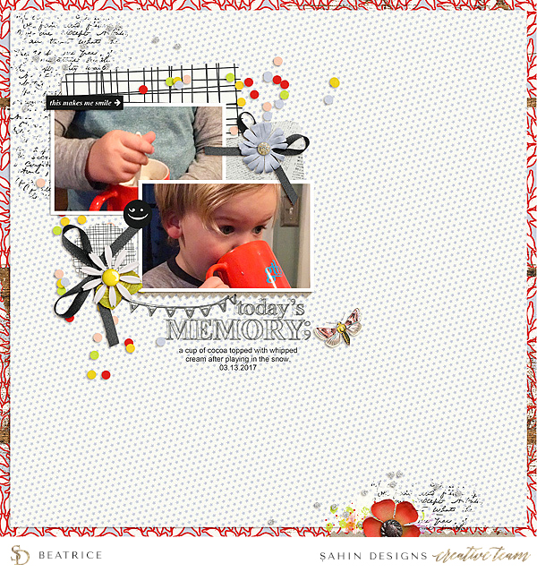 Everyday digital scrapbook layout - Sahin Designs