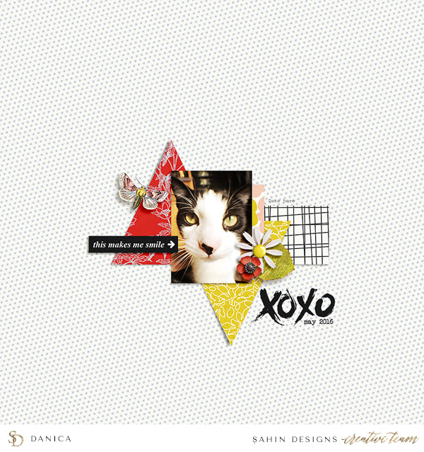 Everyday digital scrapbook layout - Sahin Designs