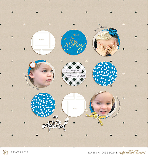 Baby Digital Scrapbook Layout - Sahin Designs