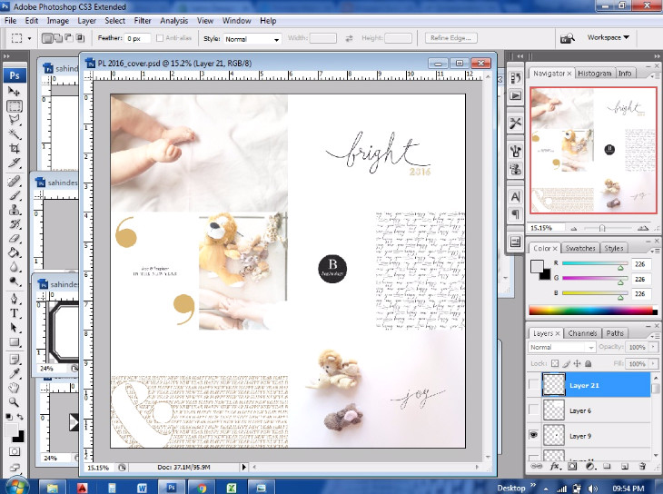 Project Life Cover Page from Start to Finish - Sahin Designs