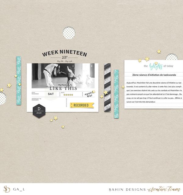 Sports Digital Scrapbook Layout - Sahin Designs
