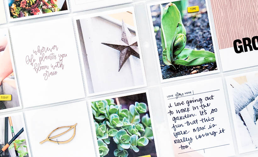 Documenting Your Garden - Sahin Designs - Scrapbook Inspiration