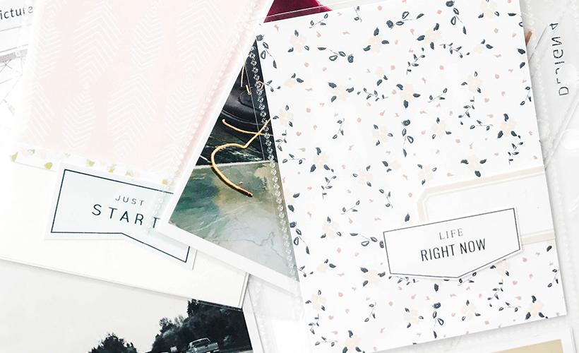 How to scrapbook without journaling - Sahin Designs - Scrapbook Tips