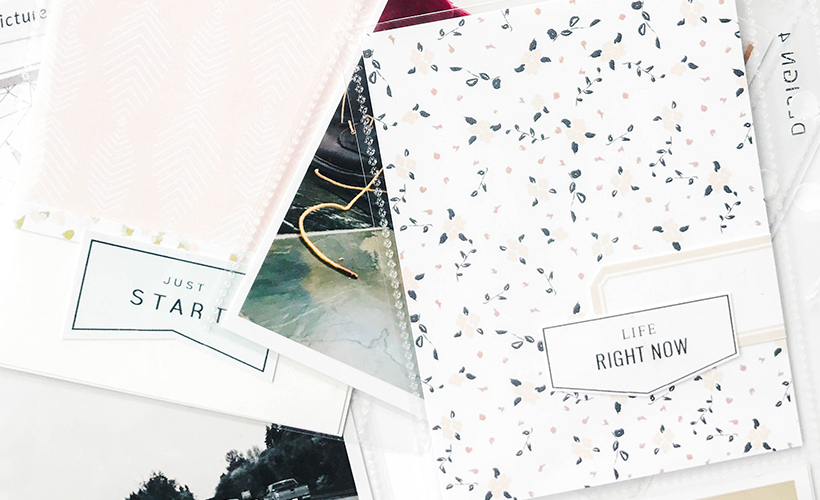 How to scrapbook without journaling - Sahin Designs - Scrapbook Tips
