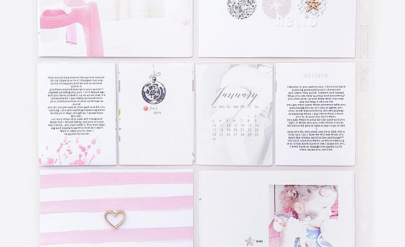 Project Life January 2016 Layouts - Sahin Designs