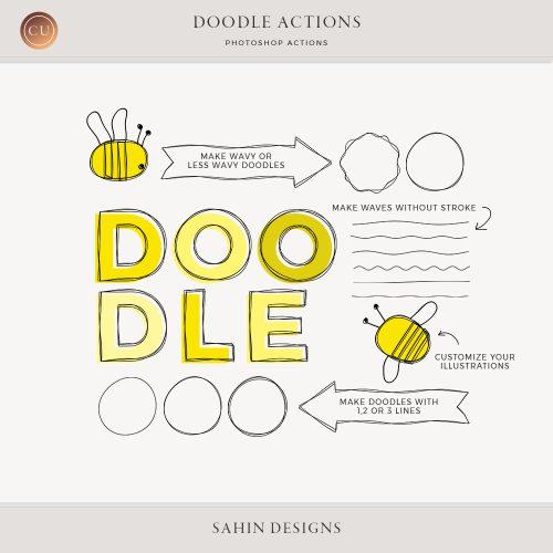 Doodle Photoshop Actions - Sahin Designs - CU Digital Scrapbook