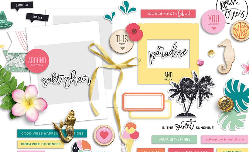 Paradise Digital Scrapbook Collection - Sahin Designs