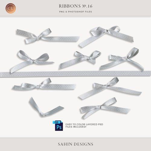 Extracted Polka Dot Ribbons - Sahin Designs - CU Digital Scrapbook