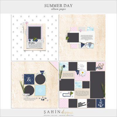 Summer Day Digital Scrapbook Album Pages - Sahin Designs