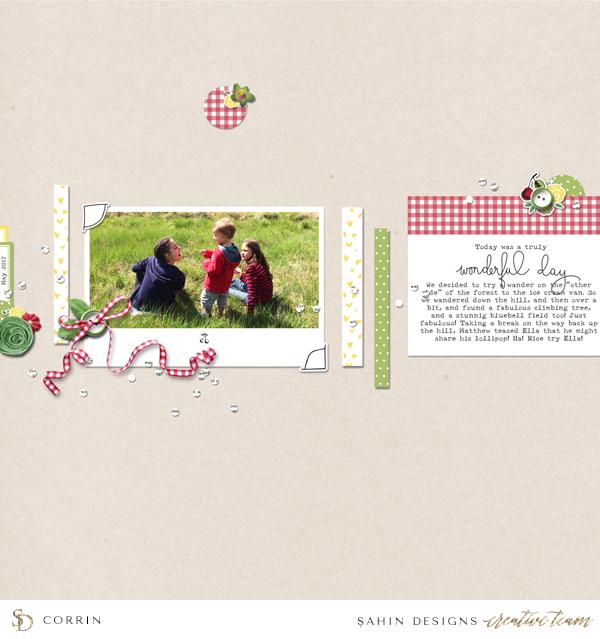 Picnic Digital Scrapbook Layout - Sahin Designs