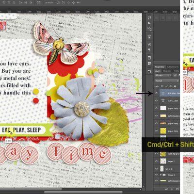 10 Photoshop Tricks Every Scrapper Must Know - Sahin Designs - Digital Scrapbook Tutorial