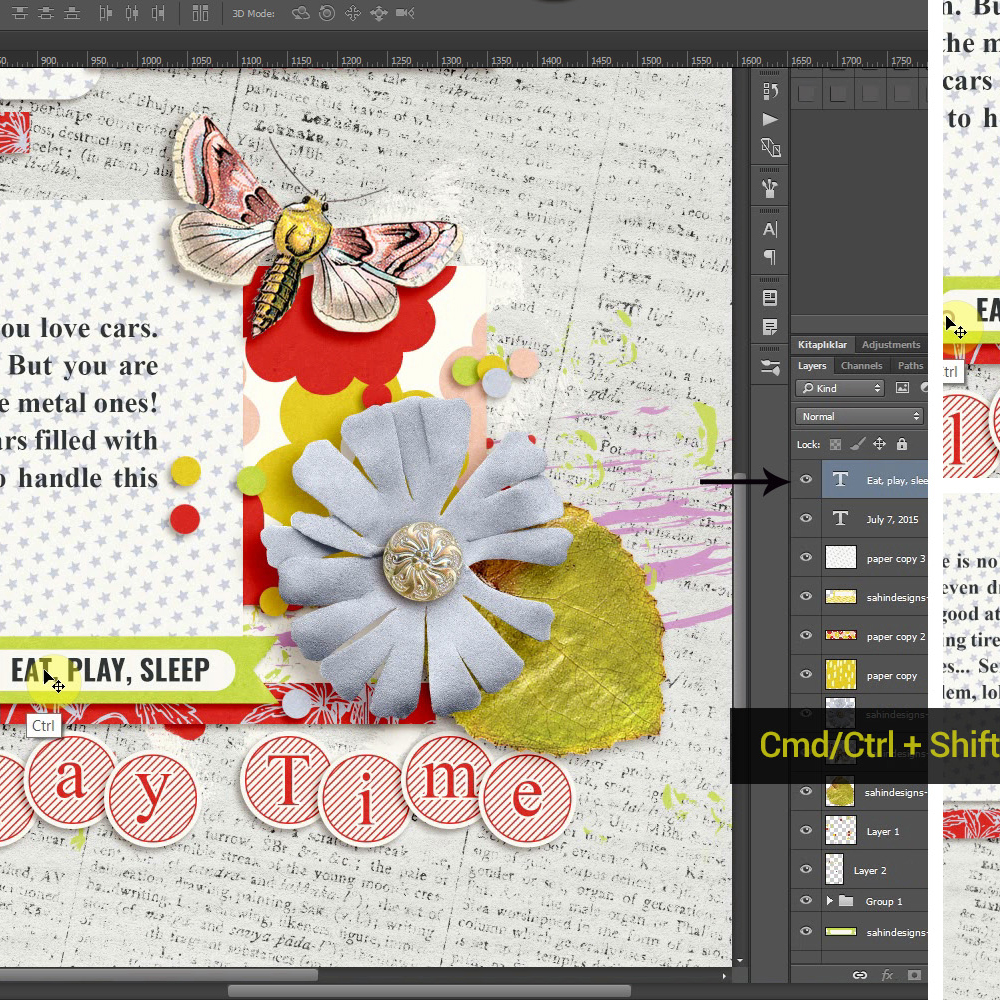 10 Photoshop Tricks Every Scrapper Must Know - Sahin Designs - Digital Scrapbook Tutorial