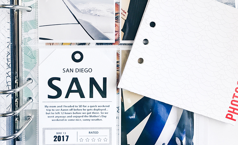 How to Work Outside of A Pocket Page - Sahin Designs - Pocket Scrapbook Inspiration