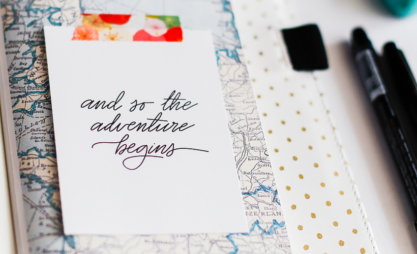Planning in Traveler's Notebook with Digital Scrapbook Products