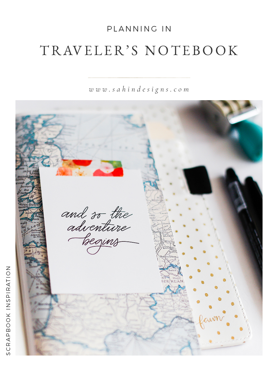 Planning in Traveler's Notebook with Digital Scrapbook Products - Sahin Designs