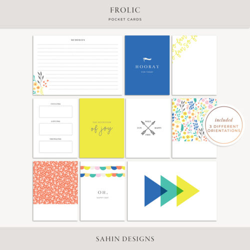 Frolic Digital Scrapbook Pocket Cards - Sahin Designs
