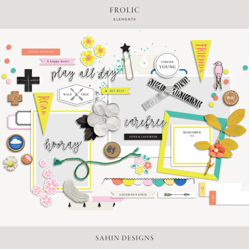 Frolic Digital Scrapbook Elements - Sahin Designs