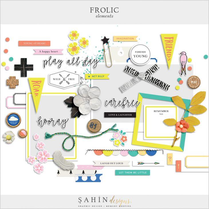 Frolic Digital Scrapbook Elements - Sahin Designs