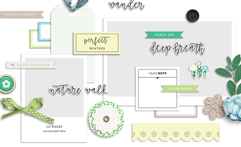 Nature Escape Free Digital Scrapbook Kit - Sahin Designs