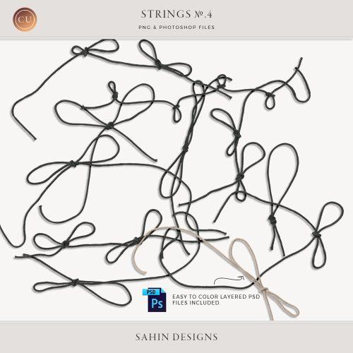 Extracted Black Strings - Sahin Designs - CU Digital Scrapbook