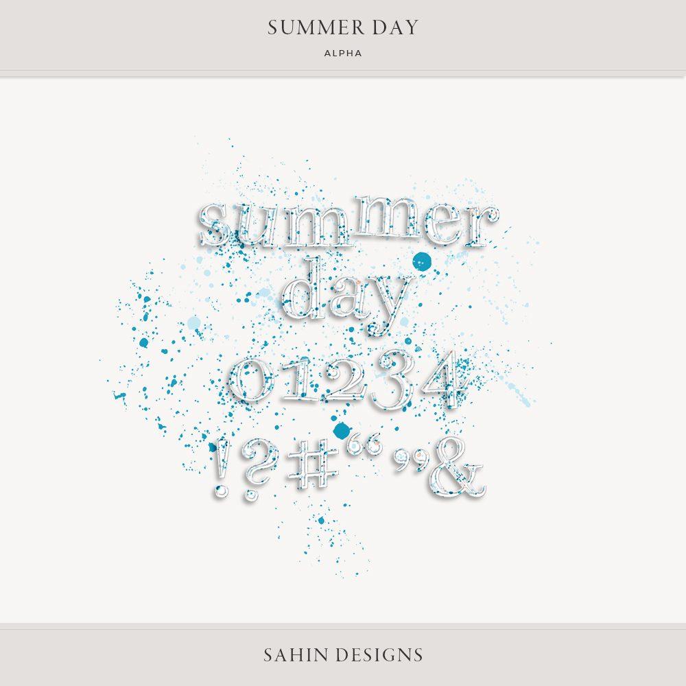 Summer Day Digital Scrapbook Alpha - Sahin Designs
