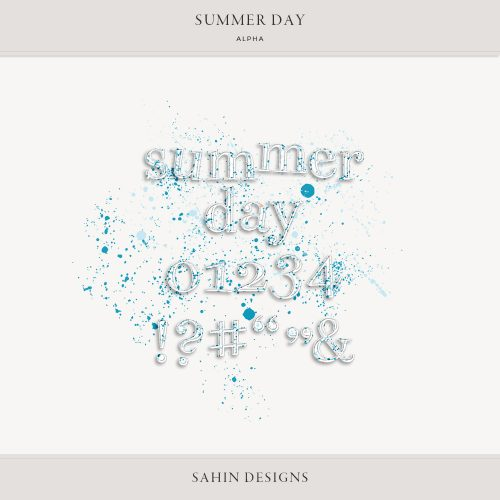Summer Day Digital Scrapbook Alpha - Sahin Designs