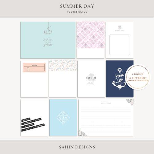 Summer Day Printable Pocket Cards - Sahin Designs
