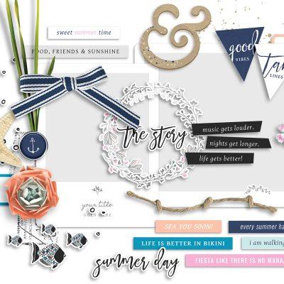 Summer Day Digital Scrapbook Collection - Sahin Designs