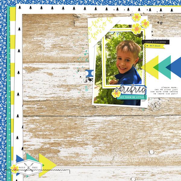 Children Digital Scrapbook Layout - Sahin Designs