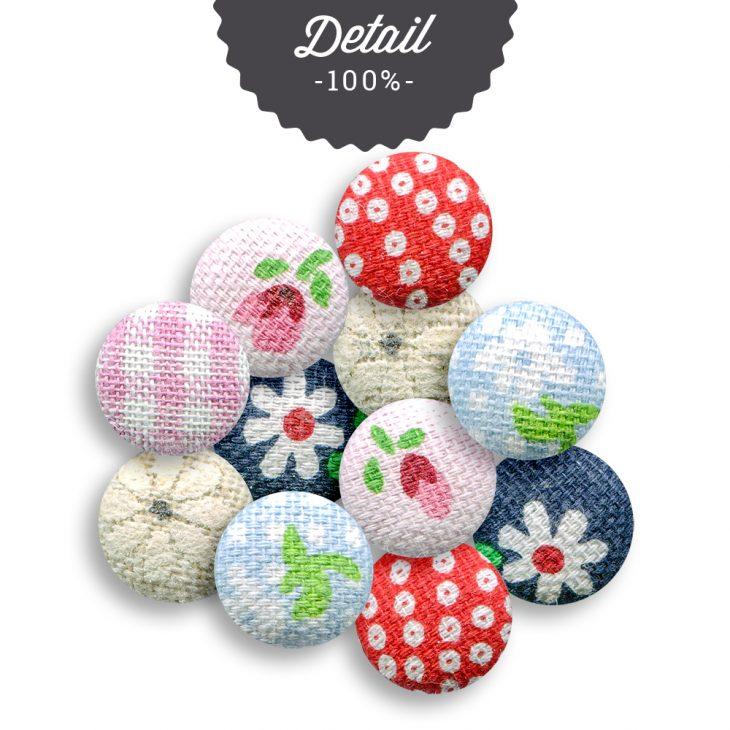 Extracted Vintage Fabric Buttons - Sahin Designs - CU Digital Scrapbook