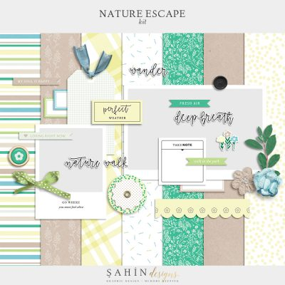 Nature Escape Digital Scrapbook Kit - Sahin Designs