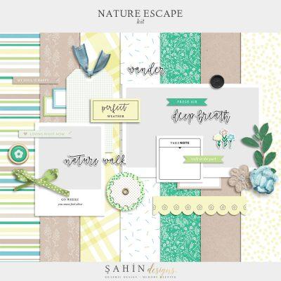 Nature Escape Digital Scrapbook Kit - Sahin Designs