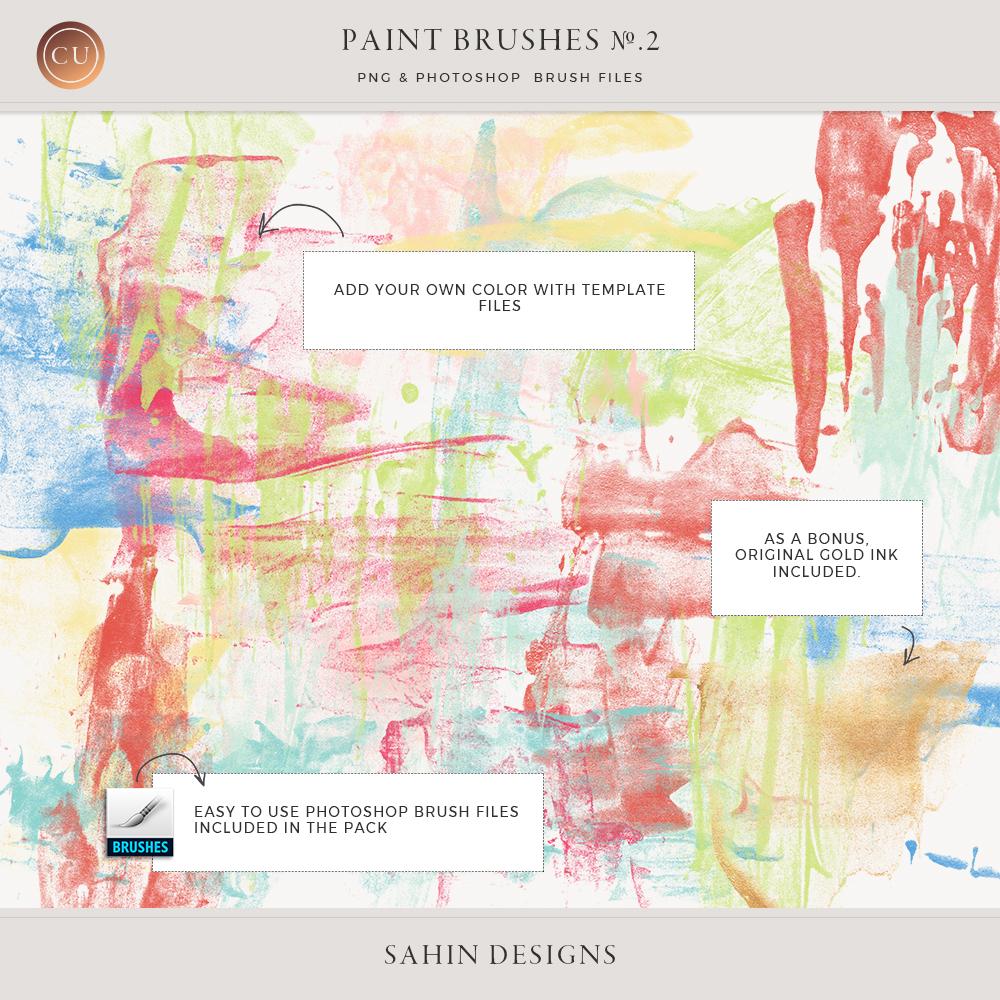 Digital Ink Brushes for Photoshop - Sahin Designs - CU Digital Scrapbook