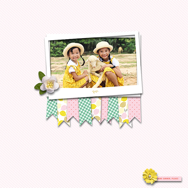 Summer Digital Scrapbook Layout - Sahin Designs