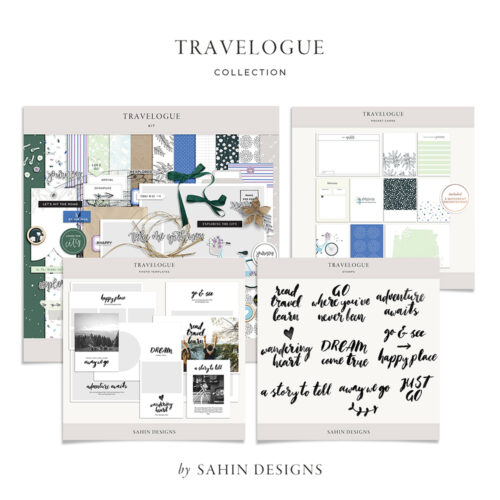 Travelogue Digital Scrapbook Collection - Sahin Designs